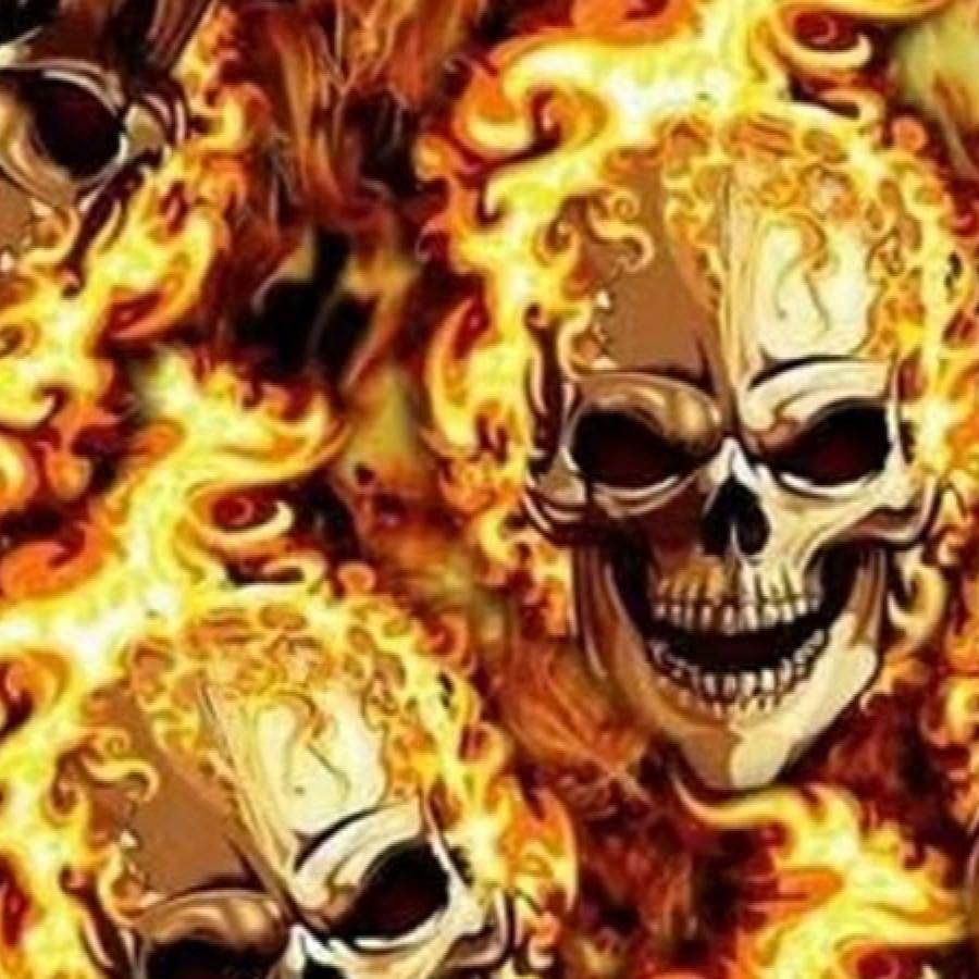 Sk99-Flaming skulls 5
